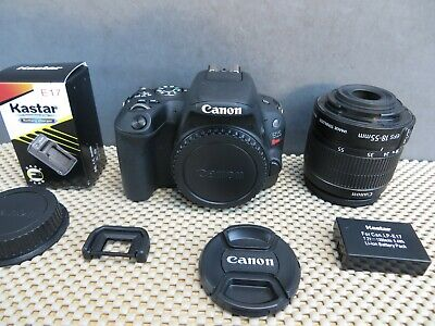 Canon EOS Rebel SL2 Digital 24.2mp + Canon 18-55mm IS STM with Only 840 Clicks