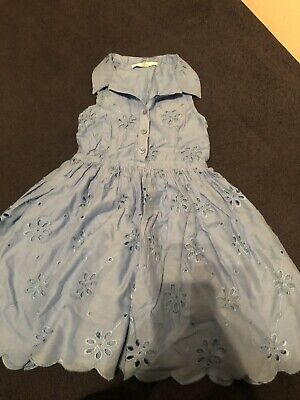 Marks and Spencers M&S Blue girls dress 5-6 years