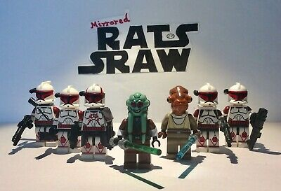 Lego Star Wars minifigures - Clone Custom Troopers - General Grievous Lair Set
