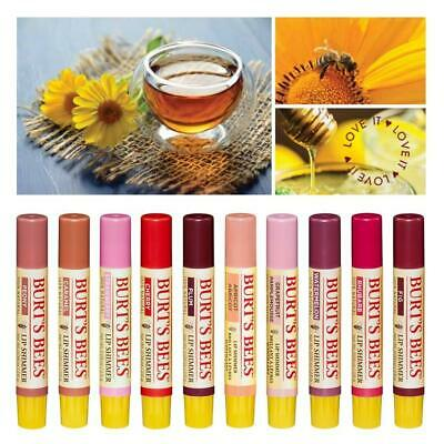 BURT'S BEES Lip SHIMMER Beeswax Tinted LIP Colour BALM Burts BEST SELLING Shades