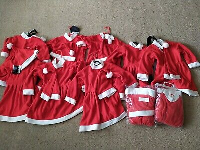Joblot Girls Miss Santa father Christmas Fancy Dress Costume Wholesale outfits
