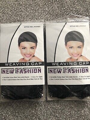 2x Weaving Cap New Fashion Hair Nets Easy To Apply