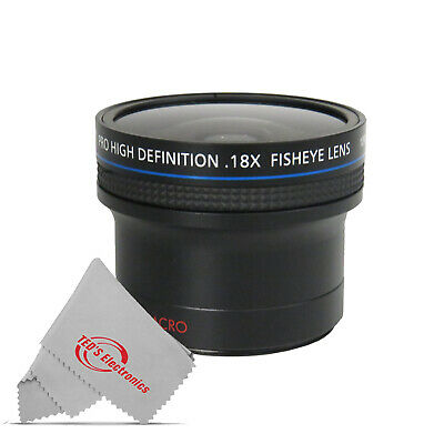 0.18x Ultra Fisheye Wide Angle Lens for Nikon D3500 D5600 D7500 & 18-55mm Lens