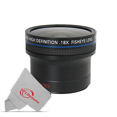 0.18x Ultra Fisheye Wide Angle Lens for 18-135 55-200 and Canon Nikon Sony Lens