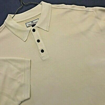 Tommy Bahama Yellow 72 Silk 28 Cotton Polo Shirt Exc Cond Sz L