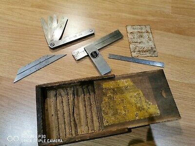 """Vintage Moore & Wright 4"""" Engineers Adjustable Try Square No.414 & Other Gauge"""