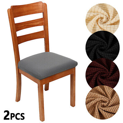 2-PCS Stretch Fit Short Dining Room Chair Cover Slip Covers Protector Seat Cover