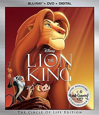 NEW!! The Lion King (Blu-ray/DVD/Digital, 2017, 2-Disc Set, 2017) With Slipcover