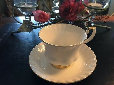 ROYAL ALBERT VAL D'OR CUPS AND SAUCERS - SET of 4 - PRICE REDUCED  FREE SHIPPING