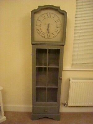NEXT Grey Contemporary Free Standing Grandmother Clock