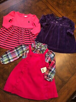 3 Ralph Lauren Baby Girl Party Dress size 12m. Winter Time!! Beautiful!!