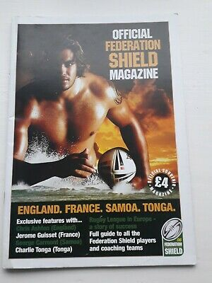 2006 Federation Shield England France Tonga Samoa International Rugby Programme