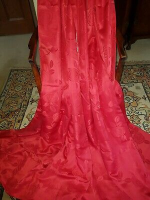 """Nice Pair of Lightweight Lined Silky Curtains 45"""" x 72"""""""