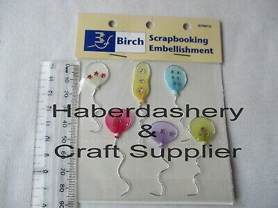 Birch Foam Stickers 4 Balloons Pink #25***End Of Line***