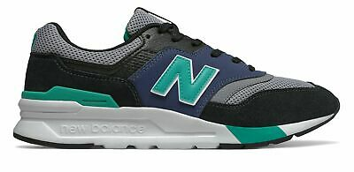 New Balance Men's 997H Shoes Black with Blue