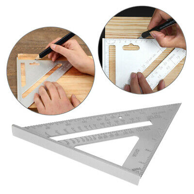 Aluminum Alloy Square Ruler Triangle Protractor Tri-Line Saw Guide Miter Speed