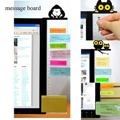 With Ruler Message Board Computer Monitor Holder Notes Sticker Acrylic Record