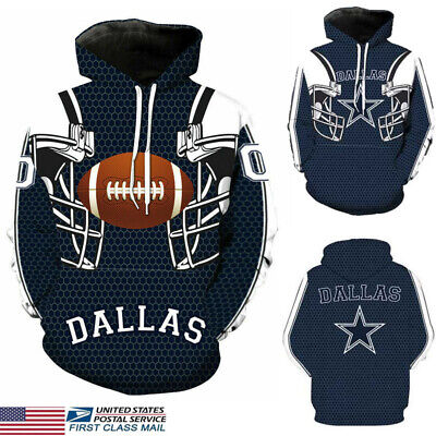 US STOCK Dallas Cowboys Sport Hoodie Sweatshirt Hooded Jumper Jacket Coat NEW