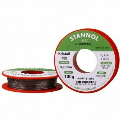 Soldering Wire with Flux Lead Alloy Sn60/Pb40 0.70mm STANNOL 100g Reel Solder