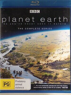 PLANET EARTH - The Complete Series David Attenborough 5 x BLURAY Set AS NEW!