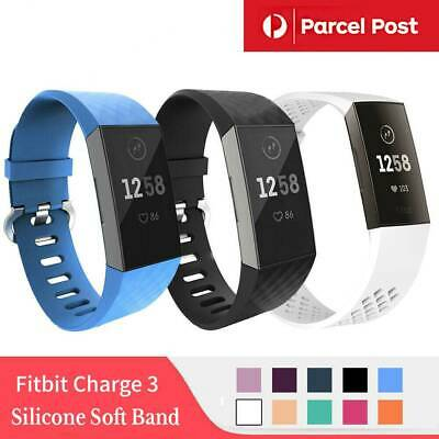 For Fitbit Charge 3 Watch Band Strap Replacement Wristband Silicone Bracelet