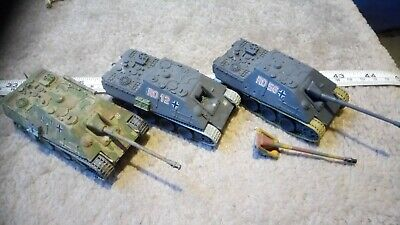 GERMAN JAGDPANTHER 1/76 OO SCALE BUILT / MADE JOB LOT x3 SPARES OR REPAIR