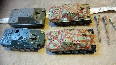 GERMAN JAGDPANTHER 1/76 OO SCALE BUILT / MADE JOB LOT x4 SPARES OR REPAIR