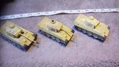 GERMAN PANTHER 1/76 OO SCALE BUILT / MADE JOB LOT x3 SPARES OR REPAIR X