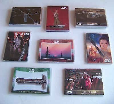 2016 Star Wars series 1 set The Force Awakens 8 insert card sets. 101 cards