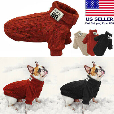 Pet Dog Knitted Sweater Chihuahua Clothes Winter Warm Pet Puppy Jumper Clothes