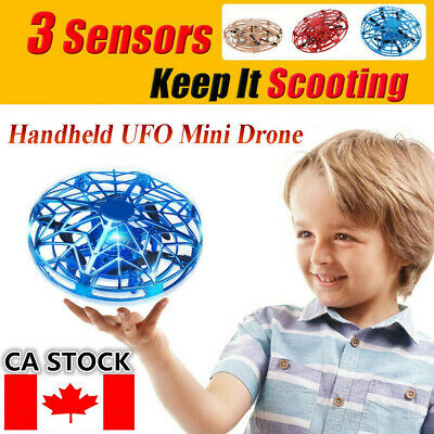 Mini Drone Infrared Sensor UFO Flying Toy Induction Aircraft Quadcopter Fr Kids