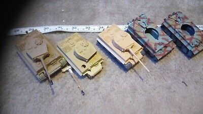 GERMAN TIGER TANKS 1/76 OO SCALE BUILT / MADE JOB LOT x5 SPARES OR REPAIR Z