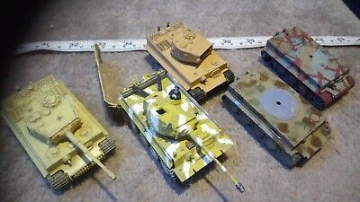 GERMAN TIGER TANKS 1/76 OO SCALE BUILT / MADE JOB LOT x5 SPARES OR REPAIR X