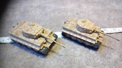 GERMAN TIGER TANKS 1/76 OO SCALE BUILT / MADE JOB LOT x2 SPARES OR REPAIR Y