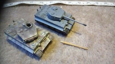 GERMAN TIGER TANKS 1/76 OO SCALE BUILT / MADE JOB LOT x2 SPARES OR REPAIR W