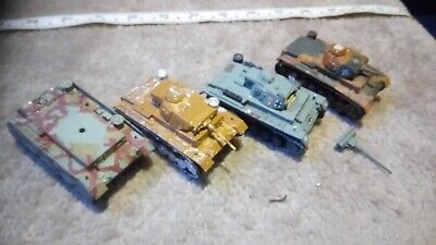 GERMAN PANZER III 1/76 OO SCALE BUILT / MADE JOB LOT x4 SPARES OR REPAIR