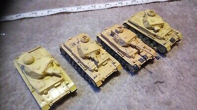 GERMAN PANZER IV 1/76 OO SCALE BUILT / MADE JOB LOT x4 SPARES OR REPAIR