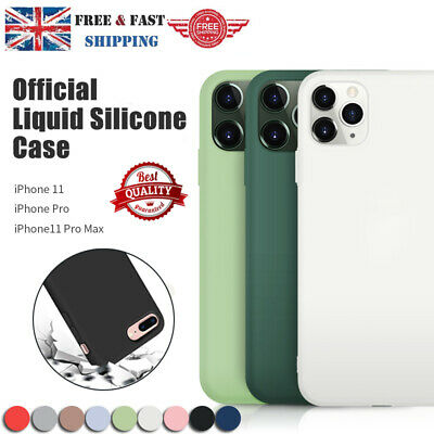 For APPLE Silicone Case iPhone 11 11 Pro Max Liquid Rubber Slim Cover Shockproof