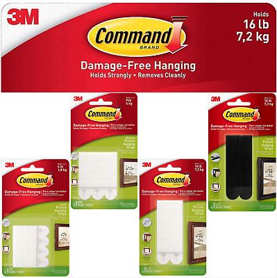 3M Command Picture Hanging Strips Damage Free - Small, Medium, Large