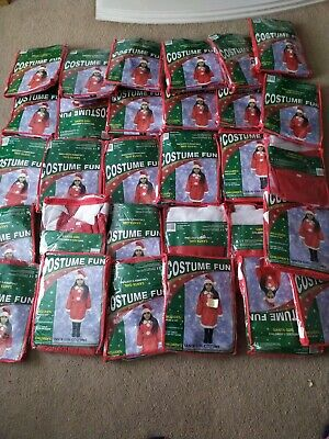 Joblot 30 Girls Miss Santa Christmas Fancy Dress Costume Wholesale outfits hat