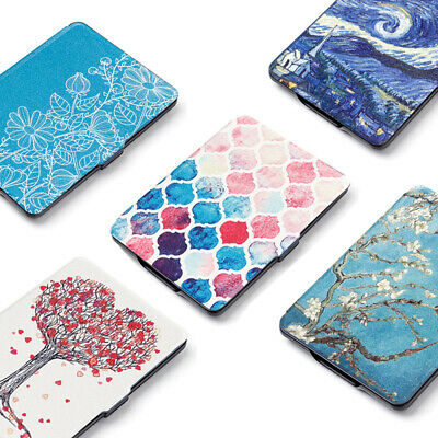 PU Leather Cover Smart Case e-Reader Shell For Amazon Kindle Paperwhite 1/2/3