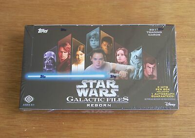 2017 Star Wars Galactic Files Reborn sealed 24 pack Hobby box with Autograph