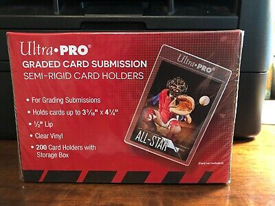 50 Ultra Pro Graded Card Submission Semi-Rigid Card Holders 50 Holders