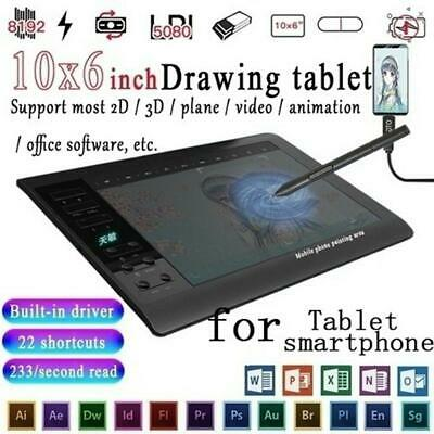 Art Design Digital Graphics Drawing Tablet Board Pad Level Stylus