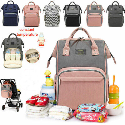 Baby Diaper Nappy Changing Mummy Bag Large Rucksack Hospital Maternity Backpack@
