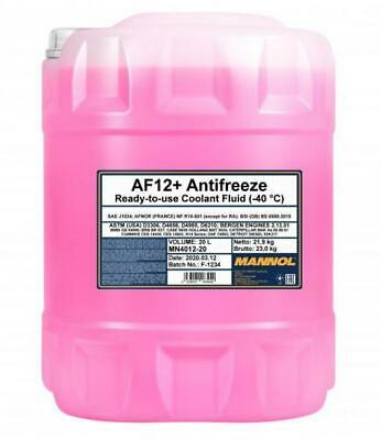 20L MANNOL AF12+ Red Antifreeze Coolant Concentrated to -40�C Longlife