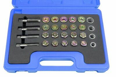 Oil Pan Thread Repair Set 64pc Sump Gearbox Drain Plug Tool Kit M13 - M20 Bergen