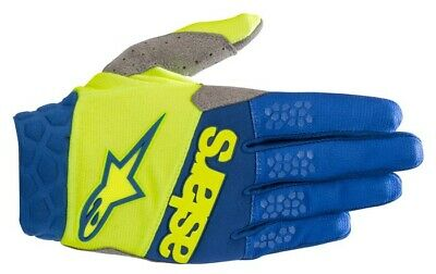 2019 Alpinestars Racefend Gloves Yellow Fluo Blue Adult Motocross Bmx Mtb Cheap