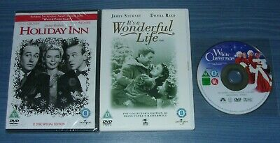 Holiday Inn / It's A Wonderful Life (used) / White Christmas (used) DVD Bundle