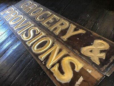 Victorian Wooden Shop Sign With Carved Gilt Lettering, Shop-fitting, Kitchen